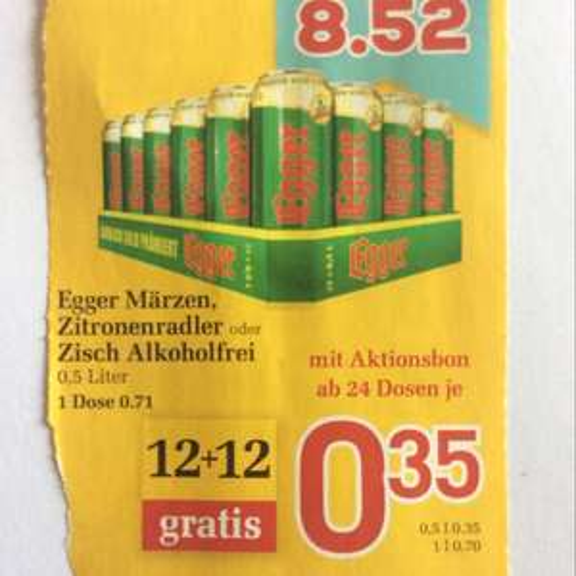 [Billa] Bier um 0,35€ pro Dose (ab 24)