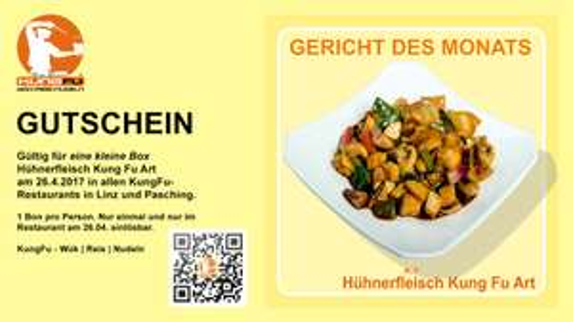 """KungFu: Kleine Box """"Hühnerfleisch Kung Fu Art"""" komplett kostenlos! - Nur am 26. April"""