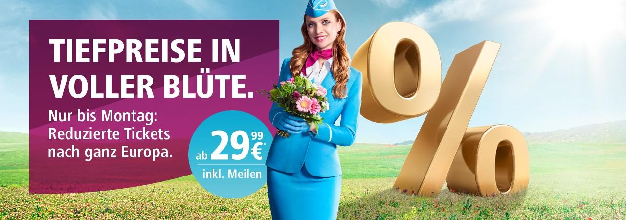 Eurowings: Viele reduzierte Tickets ab 29,99€