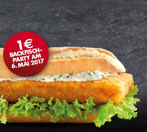 Nordsee: Backfisch Baguette für 1€- nur am 6. Mai