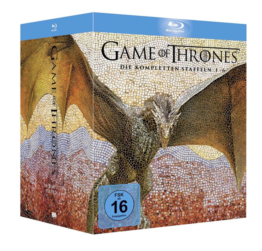 Amazon.de: Game of Thrones 1-6 Blu-ray + Fotobuch + Bonusdiscs für 100,81€