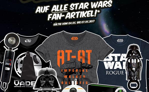 GameStop: 50% Rabatt auf alle Star Wars Fan-Artikel - nur bis zum 6. Mai