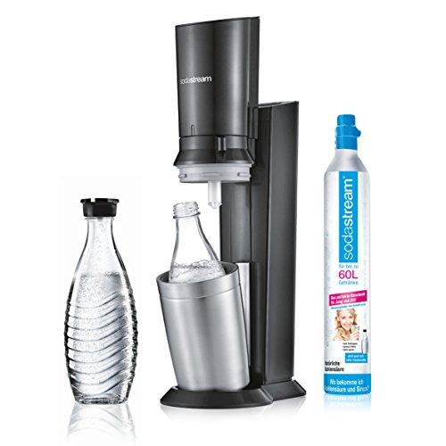 Amazon.de: SodaStream Crystal 2.0 schwarz inkl. 1 Zylinder & 2 Glaskaraffen für 88€
