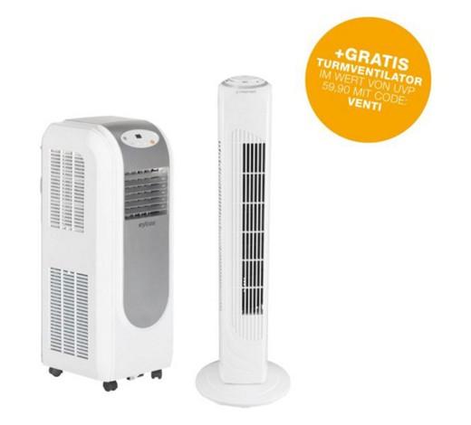 XXXLutz Online Shop: Klimaanlage Eycos inklusive gratis Turmventilator um nur € 253,9