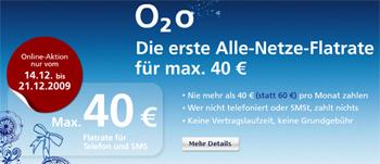 o2 o mit 40€ Kostenairbag bis zum 21.12.2009