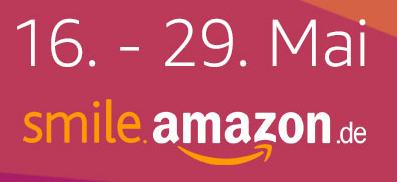 Bis zum 29. Mai spendet AmazonSmile 1,5% statt 0,5% an eine Organisation eurer Wahl!