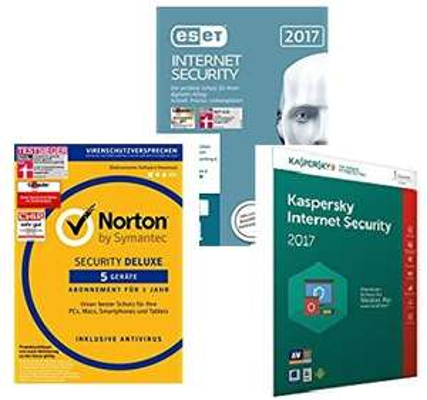 Internet Security & Antivirus Software stark reduziert