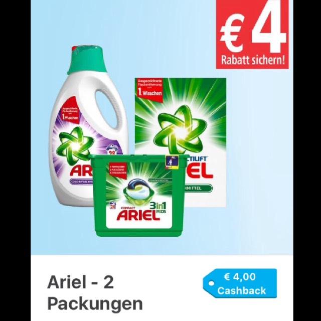 [Marktguru] Ariel Pods 4€ Cashback