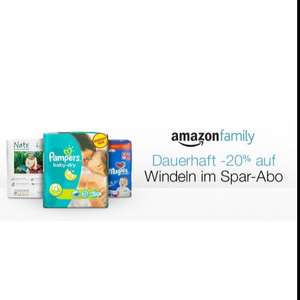 -20% auf Windeln [Amazon Family]