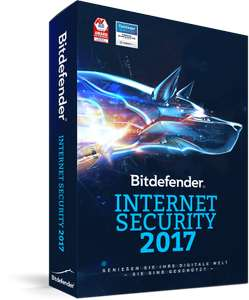 "BitDefender ""Internet Security 2017"" - 1 Jahr gratis"