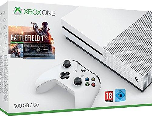 Amazon: Xbox One S 500 GB Konsole - Battlefield 1 oder FIFA 17 Bundle für 223,20€ - mit Gamerscore Gutschein für unter 200€!