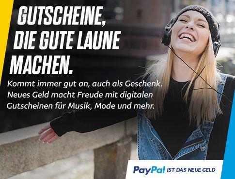 [PayPal Deutschland] 15% Extraguthaben beim Kauf von iTunes, Zalando oder CHRIST Gutscheinen