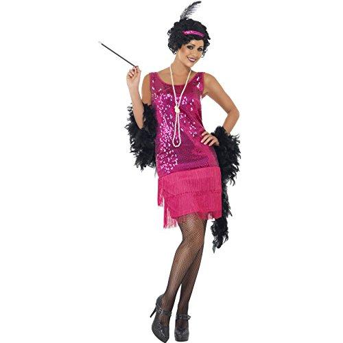 amazon Plus Produkt : 20er Jahre Charleston Kleid pink , Kopfschmuck und Halskette Gatsby 20ies Kostüm  --> Größe S nur für 2,57 € !!