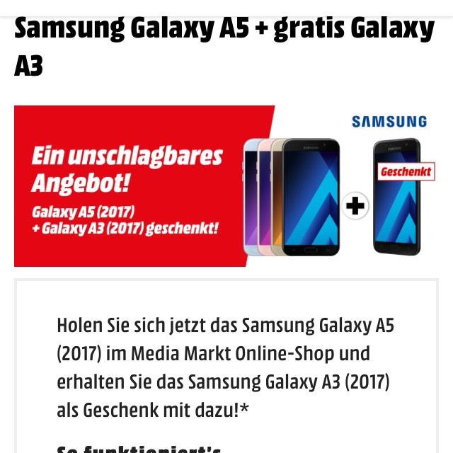 Samsung A5 2017 und Gratis A3 2017 word automatisch in den warenkorb gelegt