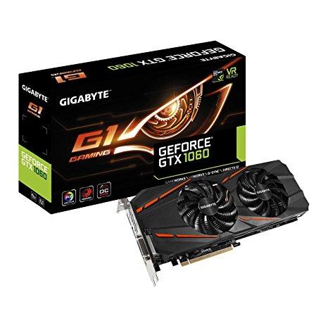 [Amazon.de] Gigabyte GeForce GTX 1060 G1 Gaming 6G  6GB GDDR5 für 258€