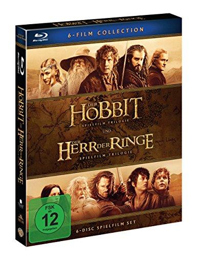 Mittelerde Collection [Blu-Ray]: Der Hobbit Trilogie + Der Herr Der Ringe Trilogie für 21,19 €