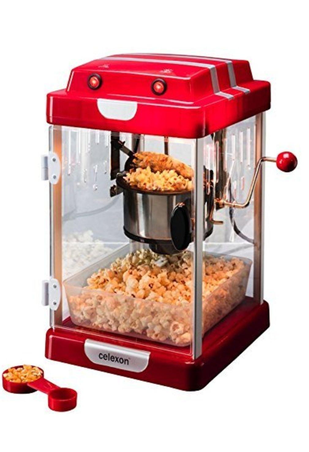 BLITZANGEBOT: celexon CinePop CP1000 Popcornmaschine mit Edelstahltopf und Innenbeleuchtung