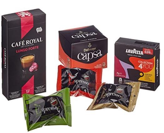 Probierbox Kaffee, Nespresso-kompatible Kapseln