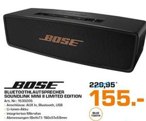[Saturn Haid] Bose Soundlink Mini II Limited Edition für €155,-