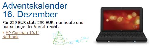 Nur heute! HP Compaq Mini Netbook für lediglich 199€ bei Amazon!