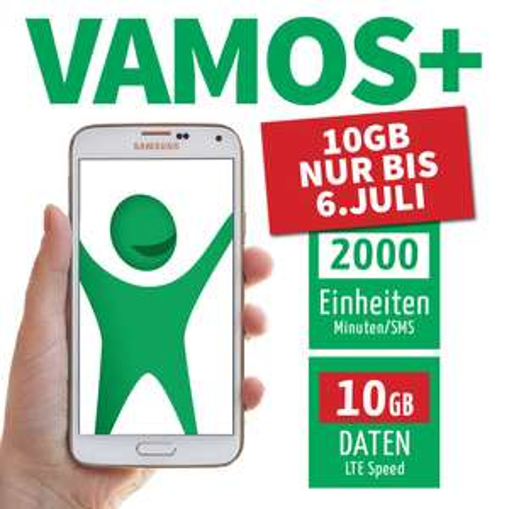 vamos+ 10GB, 2000 Einheiten für Studierende von Universitäten und Fachhochschulen sowie Mitarbeiter von Bildungsinstitutionen