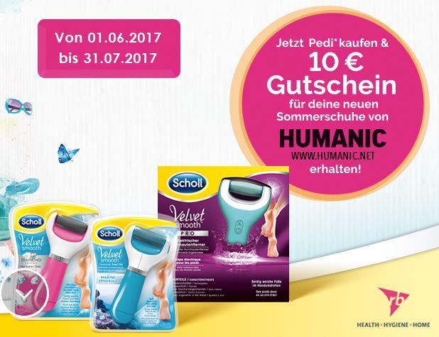 10€ Humanic Gutschein bei Kauf eines Scholl Hornhautentferners