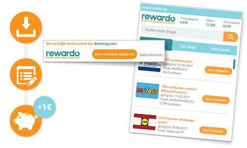 Rewardo.at: 3,65€ Gutschrift für's Einloggen