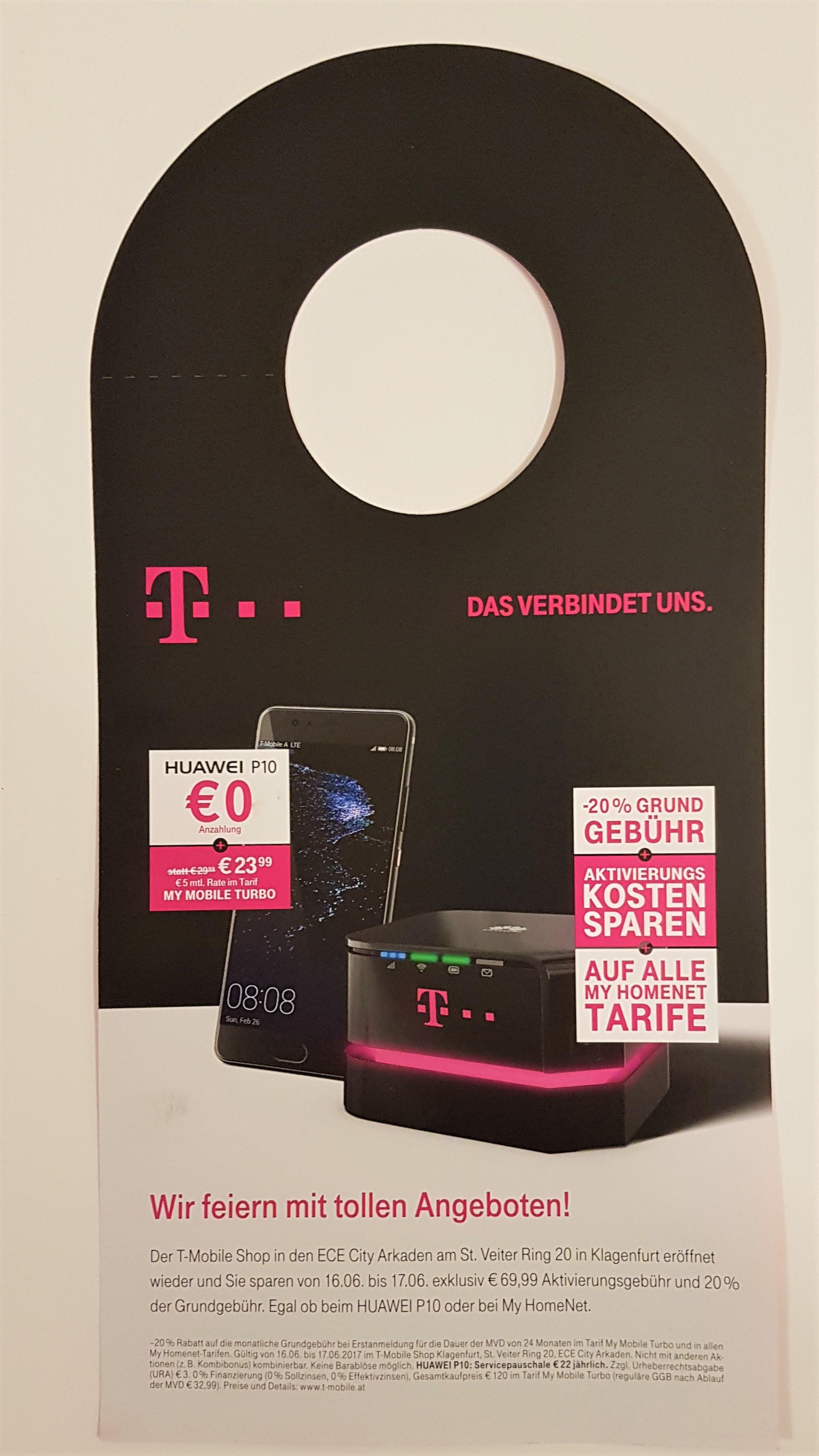 [T-Mobile] -20% auf alle My HomeNet Tarif [Neueröffnung-T-Mobile Shop Klagenfurt City Arkaden]
