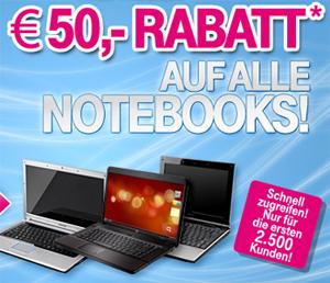 2500x 50€-Gutscheine für Notebooks im T-Online Shop