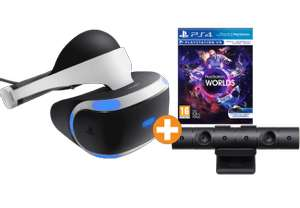[Mediamarkt / Saturn] [PS4] SONY PlayStation VR + Kamera + VR Worlds für 389,- (+4,99 Versand)