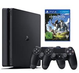 Amazon.de: Playstation 4 Slim, 500GB + 2. Controller für 219€ oder zusätzlich mit Horizon Zero Dawn für 255,99€