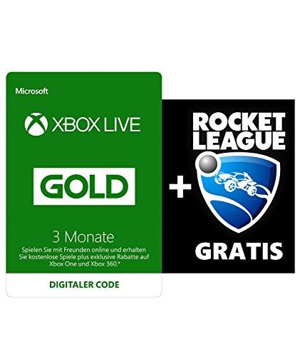 Amazon.de: Xbox Live Gold 3 Monate + Rocket League für 19,99€, Update: 16,97€