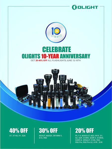 Olight 20-40% auf Taschenlampen