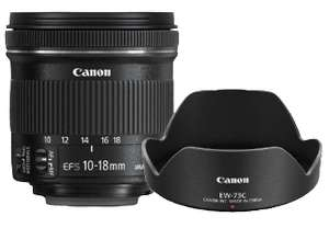CANON Objektiv EF-S 10-18MM F/4.5-5.6 IS STM + EW73C + LC KIT