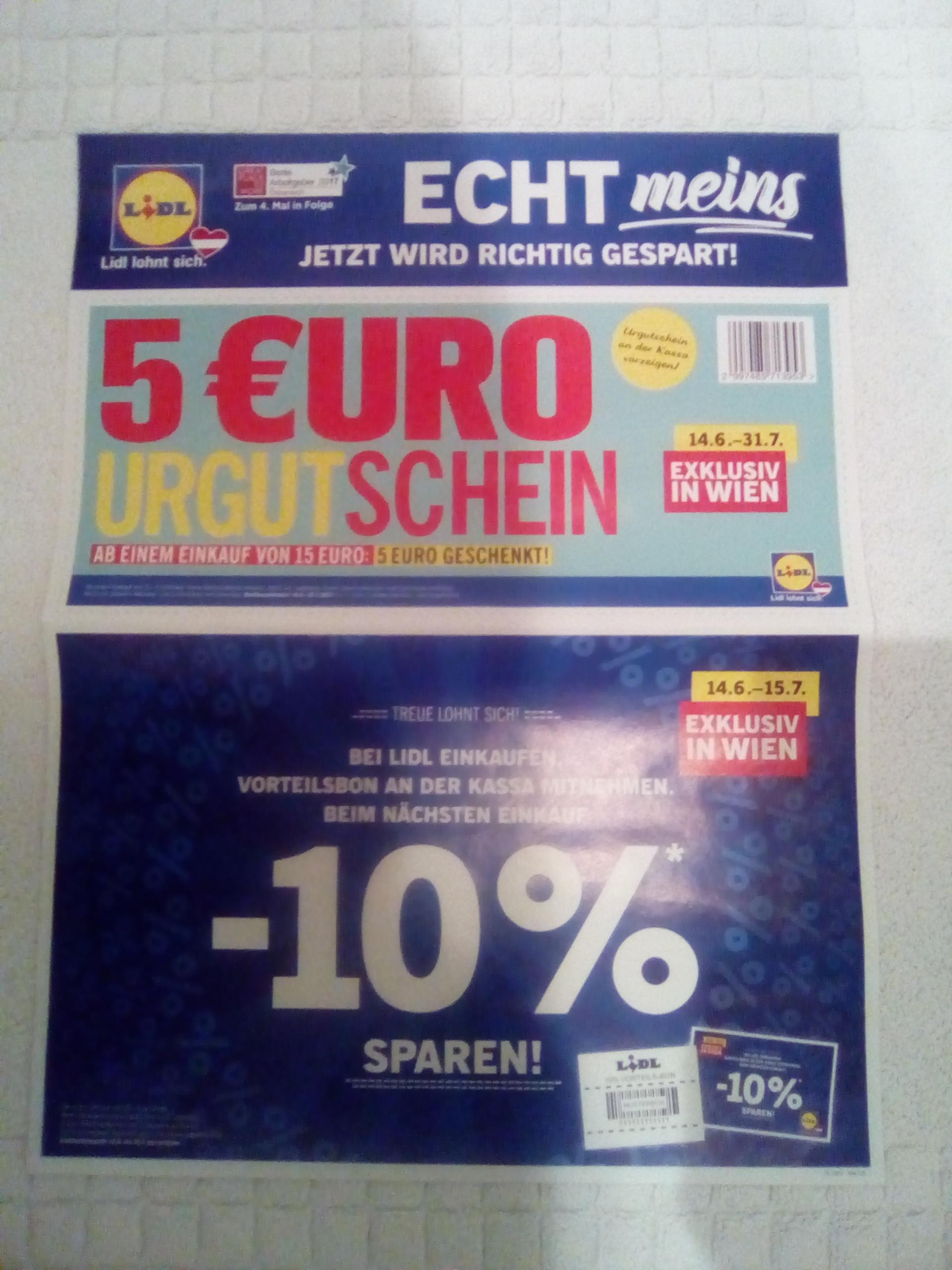 Lidl € 5,- Gutschein ab € 15,-