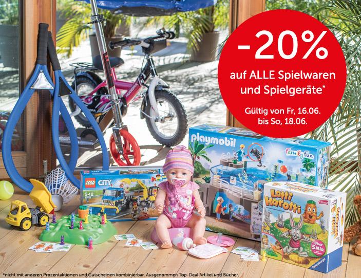-20% auf alle Spielwaren und Spielgeräte beim Interspar Onlineshop