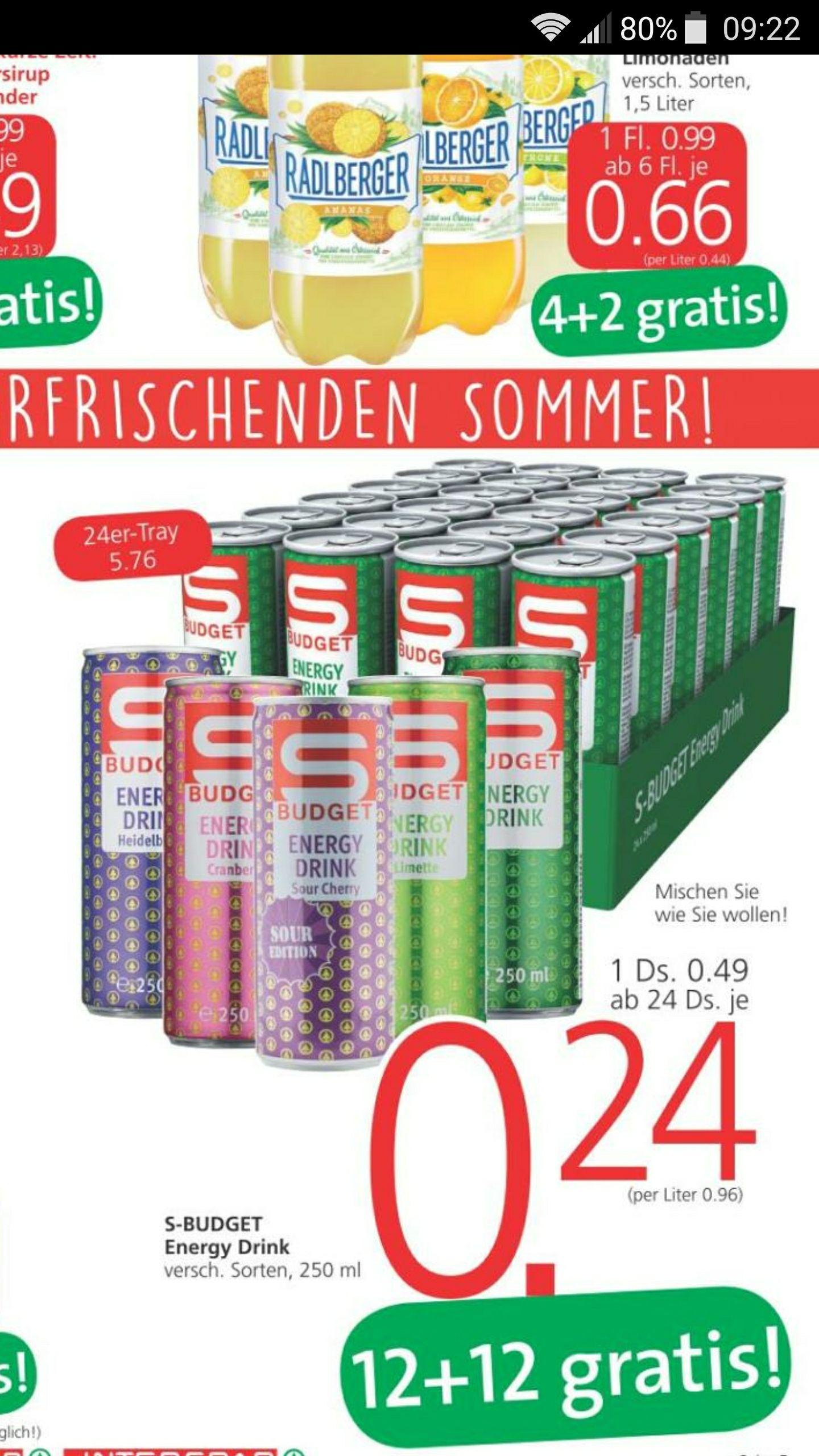 S-Budget Energy Drink für 0,24€