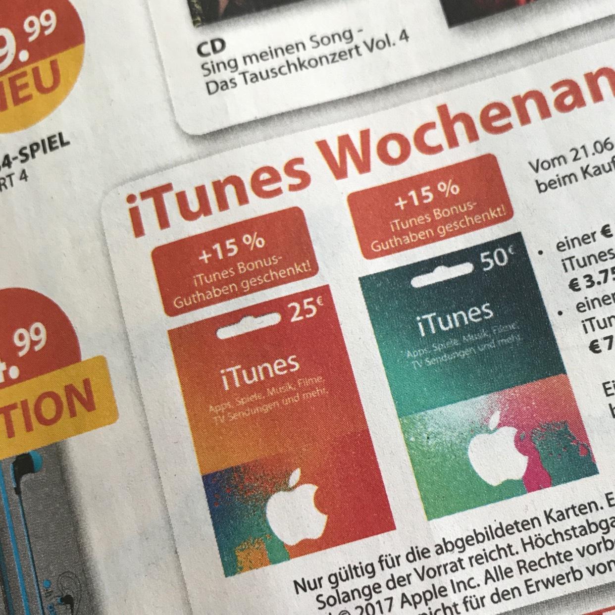 MÜLLER iTunes Wochenangebot