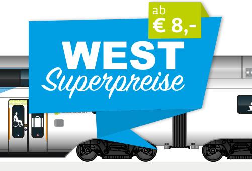 Westbahn Tickets für Kurzentschlossene ab 8 € - bis 9.12.17
