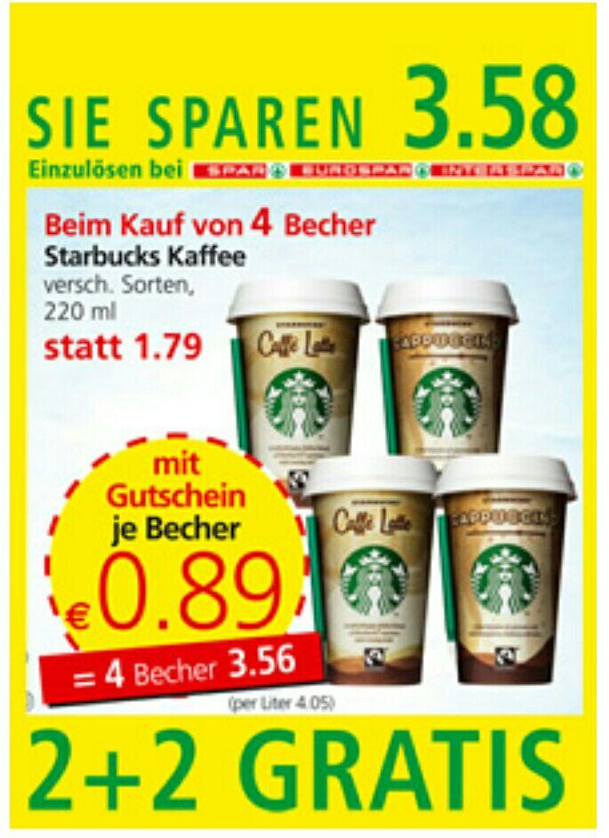 Starbucks 220ml um €0,89
