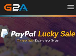 PayPal Lucky Sale auf G2A