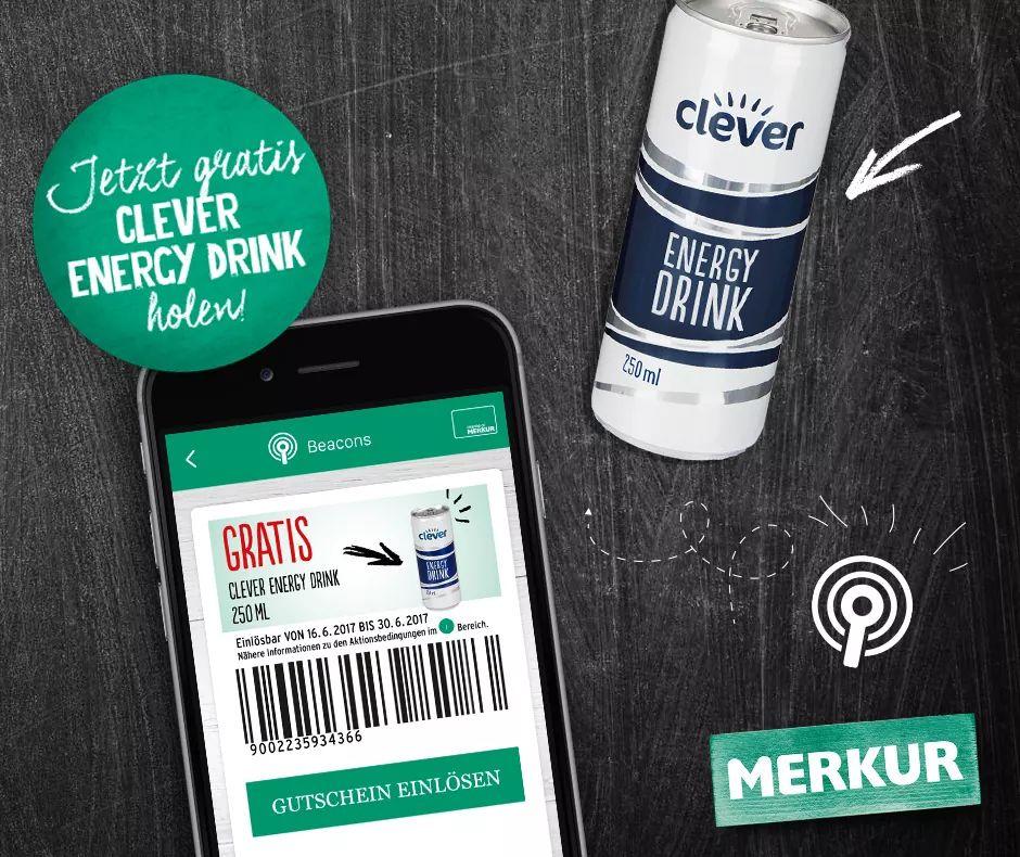 Merkur: Gratis Clever Energy Drink in ausgewählten Märkten - nur bis zum 30. Juni