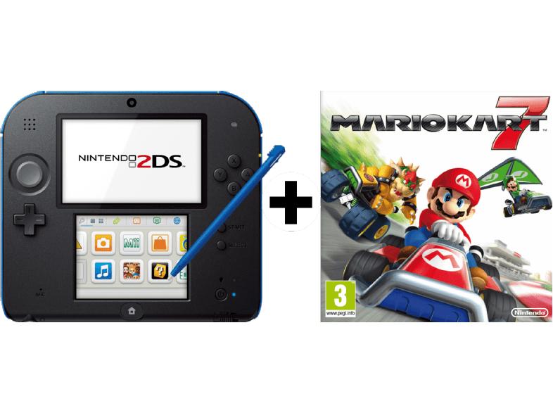 NINTENDO 2DS schwarz + Mario Kart 7 (vorinstalliert) Limited Edition Pack für 77€ / Media Markt !