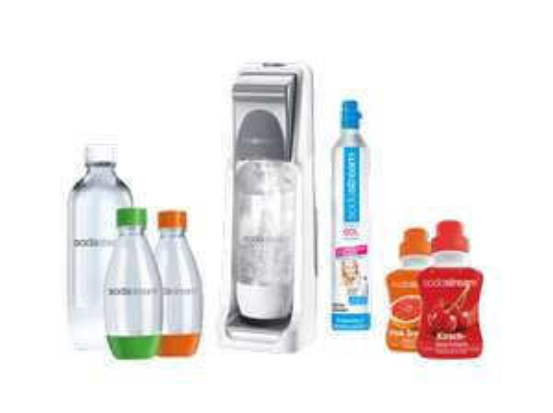 [Mediamarkt.at] SODASTREAM Wassersprudler Cool Super Spar Pack Grau für 37€ - Bestpreis