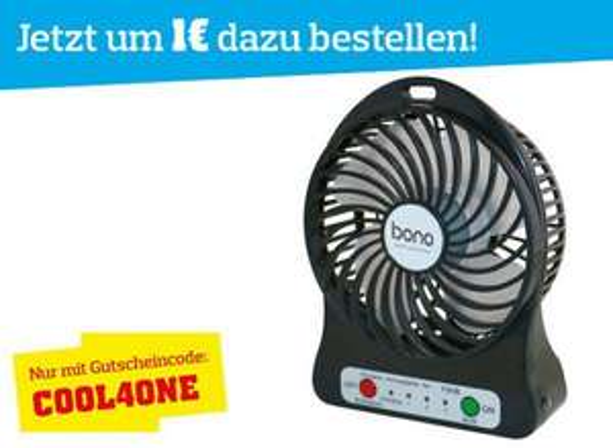 Möbelix: Tisch-Ventilator (9cm Rotor) um 1 € (oder 15 Stück um 15 €)