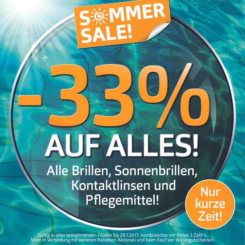Pearle Sommer Sale: -33% auf alles bis 29.07.!