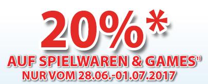 Müller Österreich: -20% auf Spielwaren & Games