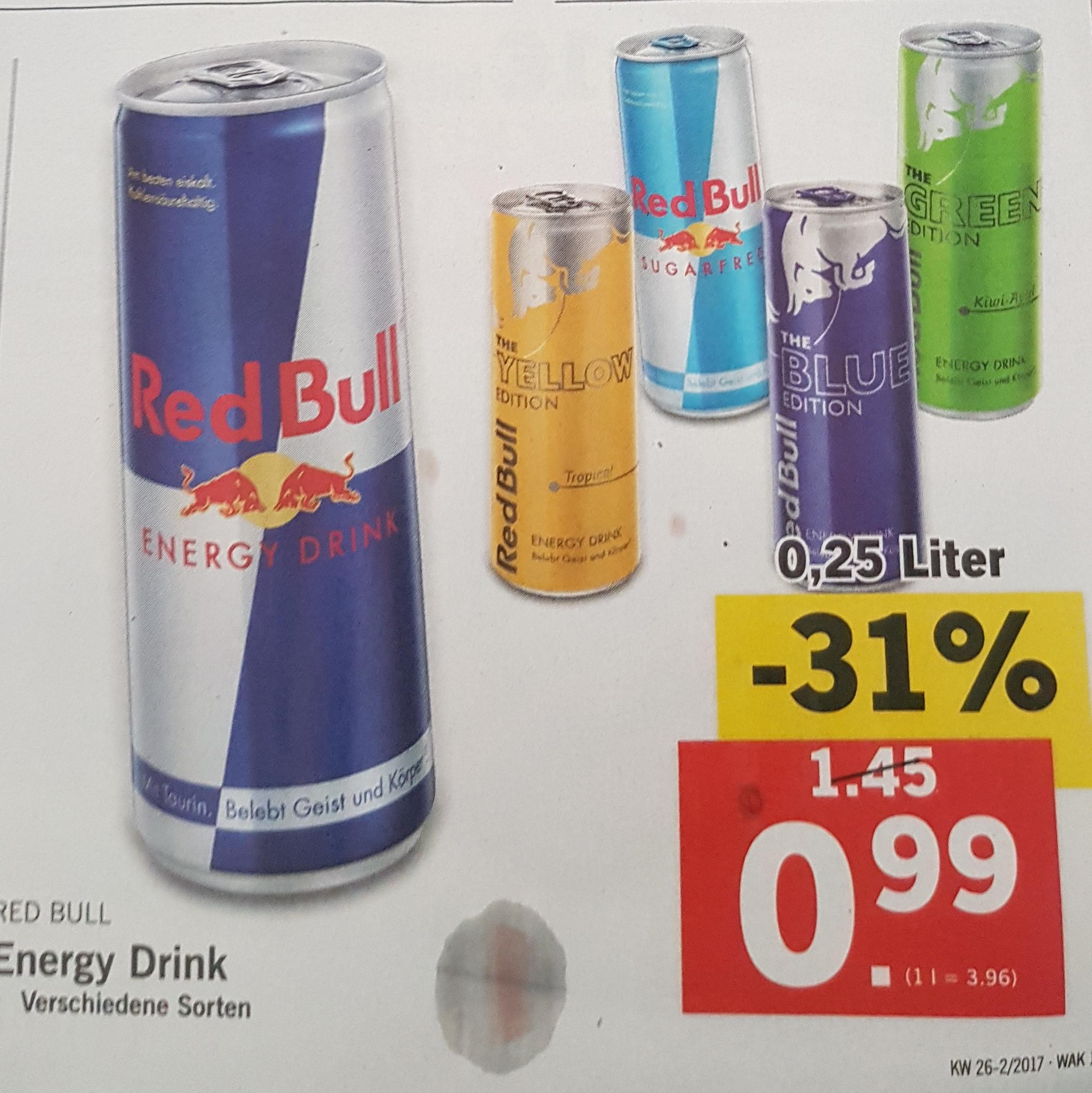 [Lidl] Red Bull div. Sorten um nur 0,99€