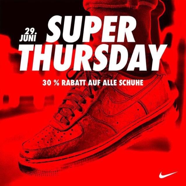 -30% auf ALLE Schuhe im Nike Factory Store