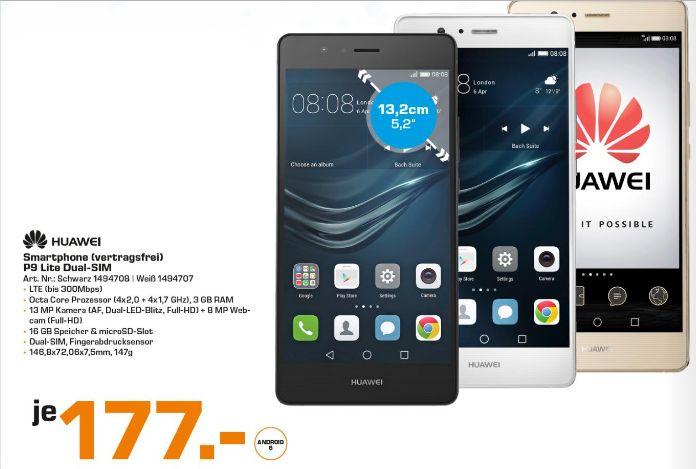 [Saturn Linz] Huawei P9 Lite DS/3GB RAM/16GB Eröffnungsangebot